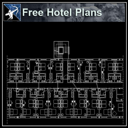 【Architecture CAD Projects】Hotel CAD Blocks and Plans