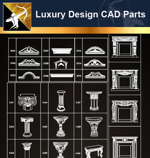 Luxury Design CAD Blocks 6 - Architecture Autocad Blocks,CAD Details,CAD Drawings,3D Models,PSD,Vector,Sketchup Download