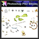 Photoshop PSD Landscape North Symbols Blocks - Architecture Autocad Blocks,CAD Details,CAD Drawings,3D Models,PSD,Vector,Sketchup Download