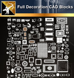 ★Full Decoration Blocks - Architecture Autocad Blocks,CAD Details,CAD Drawings,3D Models,PSD,Vector,Sketchup Download