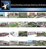 ★Best 20 Types of School Sketchup 3D Models Collection V.7 - Architecture Autocad Blocks,CAD Details,CAD Drawings,3D Models,PSD,Vector,Sketchup Download