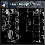 【Architecture CAD Projects】Pub,Bar Design CAD Blocks,Plans,Elevation - Architecture Autocad Blocks,CAD Details,CAD Drawings,3D Models,PSD,Vector,Sketchup Download