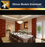 ★Download 3D Max Decoration Models -Dining Room V.1 - Architecture Autocad Blocks,CAD Details,CAD Drawings,3D Models,PSD,Vector,Sketchup Download