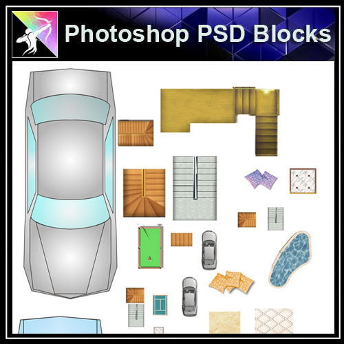 【Photoshop PSD Blocks】Landscape Blocks - Architecture Autocad Blocks,CAD Details,CAD Drawings,3D Models,PSD,Vector,Sketchup Download