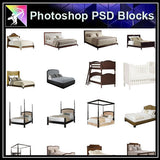 【Photoshop PSD Blocks】Bed Blocks V3 - Architecture Autocad Blocks,CAD Details,CAD Drawings,3D Models,PSD,Vector,Sketchup Download