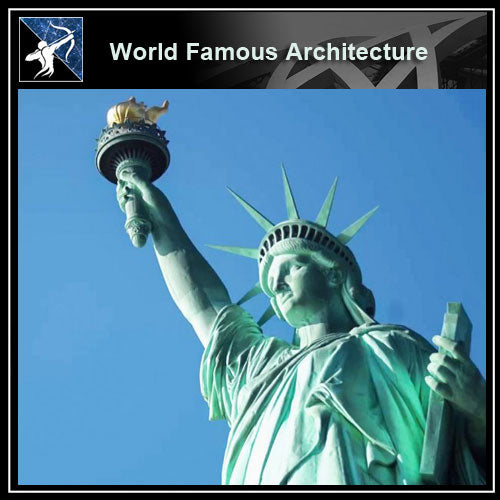 【Famous Architecture Project】Statue of liberty 3D CAD Drawing-Architectural 3D CAD model - Architecture Autocad Blocks,CAD Details,CAD Drawings,3D Models,PSD,Vector,Sketchup Download
