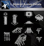 【Sliderail System Details】 - Architecture Autocad Blocks,CAD Details,CAD Drawings,3D Models,PSD,Vector,Sketchup Download