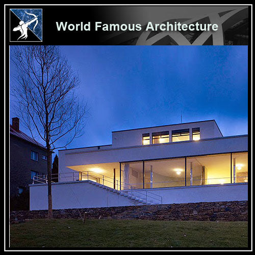 【Famous Architecture Project】Villa tugendhat CAD Drawing-Architectural 3D CAD model