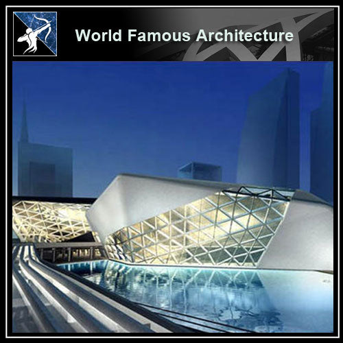【World Famous Architecture CAD Drawings】Guangzhou opera 3d sketchup model-zaha hadid architects