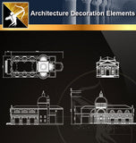Free CAD Architecture Decoration Elements 21 - Architecture Autocad Blocks,CAD Details,CAD Drawings,3D Models,PSD,Vector,Sketchup Download