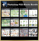 ★Full Photoshop PSD Blocks Collection (Best Recommanded!!) - Architecture Autocad Blocks,CAD Details,CAD Drawings,3D Models,PSD,Vector,Sketchup Download
