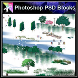 【Photoshop PSD Landscape Blocks】Hand-painted Landscape Blocks 4