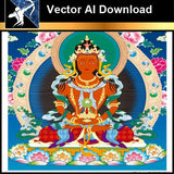 ★Vector Download AI-Thangka Paintings and Mandala: The Sacred Art of Nepal V.8