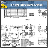 【CAD Details】Bridge Structure Detail