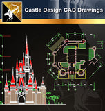 Castle Design CAD Drawings 2 - Architecture Autocad Blocks,CAD Details,CAD Drawings,3D Models,PSD,Vector,Sketchup Download