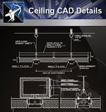 【Ceiling Details】Free Ceiling Details 2 - Architecture Autocad Blocks,CAD Details,CAD Drawings,3D Models,PSD,Vector,Sketchup Download