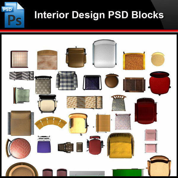 ★Photoshop PSD Blocks-Interior Design PSD Blocks-Desk & Chair PSD Blocks V5 - Architecture Autocad Blocks,CAD Details,CAD Drawings,3D Models,PSD,Vector,Sketchup Download