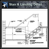 ★Free CAD Details-Stair @ Landing Detail - Architecture Autocad Blocks,CAD Details,CAD Drawings,3D Models,PSD,Vector,Sketchup Download
