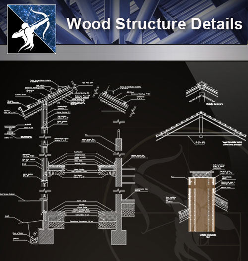 【Wood Constructure Details】Free Wood Details - Architecture Autocad Blocks,CAD Details,CAD Drawings,3D Models,PSD,Vector,Sketchup Download