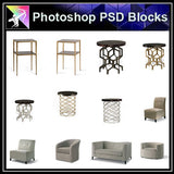 【Photoshop PSD Blocks】Furniture PSD Blocks - Architecture Autocad Blocks,CAD Details,CAD Drawings,3D Models,PSD,Vector,Sketchup Download