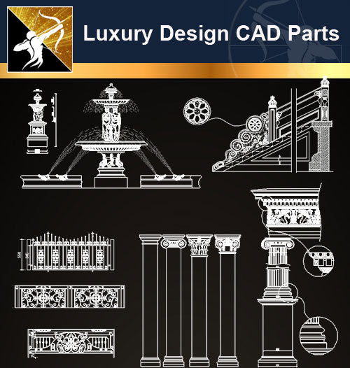 Luxury Design CAD Blocks 3 - Architecture Autocad Blocks,CAD Details,CAD Drawings,3D Models,PSD,Vector,Sketchup Download