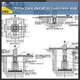 【CAD Details】Structure detail in concrete slab - Architecture Autocad Blocks,CAD Details,CAD Drawings,3D Models,PSD,Vector,Sketchup Download