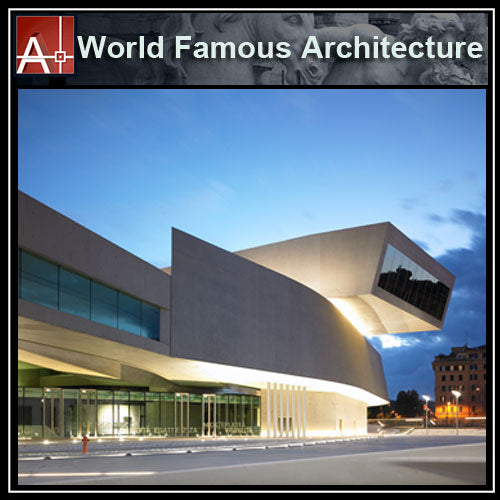【Famous Architecture Project】MAXXI Museum -Zaha Hadid-Architectural CAD Drawings