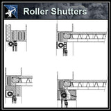 ★Free CAD Details-Roller_shutters - Architecture Autocad Blocks,CAD Details,CAD Drawings,3D Models,PSD,Vector,Sketchup Download
