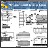 【CAD Details】Minecraft small detailed house