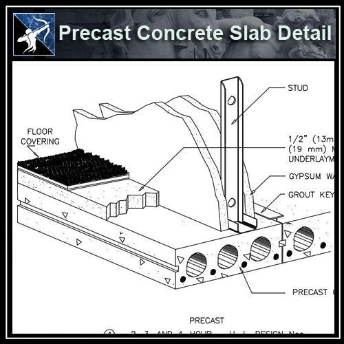 ★Free CAD Details-Precast Concrete Slab Detail (ISO) - Architecture Autocad Blocks,CAD Details,CAD Drawings,3D Models,PSD,Vector,Sketchup Download