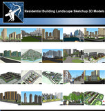 ★Best 20 Types of Residential Building Landscape Sketchup 3D Models Collection V.7 - Architecture Autocad Blocks,CAD Details,CAD Drawings,3D Models,PSD,Vector,Sketchup Download