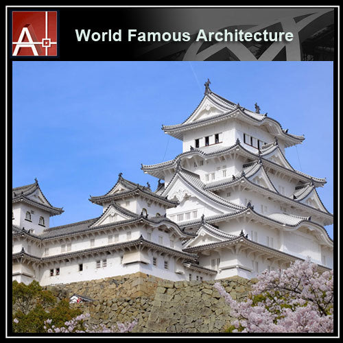 【Famous Architecture Project】Hime Castle Sketchup 3D model -Architectural 3D SKP model - Architecture Autocad Blocks,CAD Details,CAD Drawings,3D Models,PSD,Vector,Sketchup Download