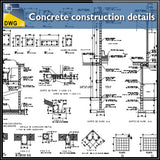 【CAD Details】Concrete details autocad dwg files - Architecture Autocad Blocks,CAD Details,CAD Drawings,3D Models,PSD,Vector,Sketchup Download