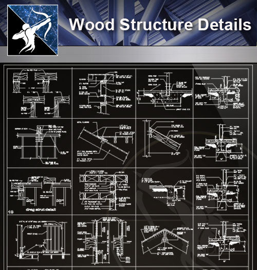 【Wood Constructure Details】Free Wood Structure Details - Architecture Autocad Blocks,CAD Details,CAD Drawings,3D Models,PSD,Vector,Sketchup Download