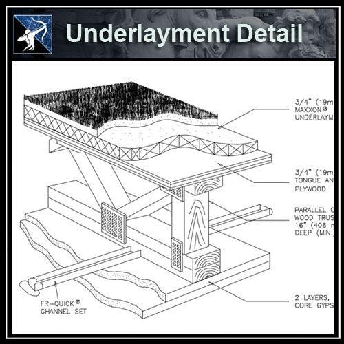 ★Free CAD Details-Underlayment Detail - Architecture Autocad Blocks,CAD Details,CAD Drawings,3D Models,PSD,Vector,Sketchup Download
