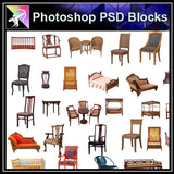 【Photoshop PSD Blocks】Chinese Furniture 2 - Architecture Autocad Blocks,CAD Details,CAD Drawings,3D Models,PSD,Vector,Sketchup Download