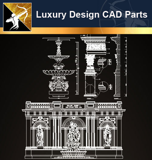 Luxury Design CAD Blocks 2 - Architecture Autocad Blocks,CAD Details,CAD Drawings,3D Models,PSD,Vector,Sketchup Download