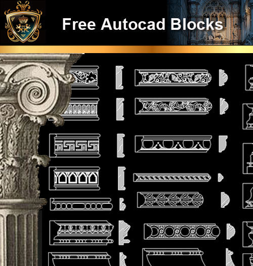 ★Free CAD Blocks-Architecture Decorative Elements V.3 - Architecture Autocad Blocks,CAD Details,CAD Drawings,3D Models,PSD,Vector,Sketchup Download