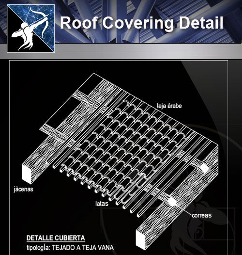【Roof Details】Free Roof Covering Detail - Architecture Autocad Blocks,CAD Details,CAD Drawings,3D Models,PSD,Vector,Sketchup Download