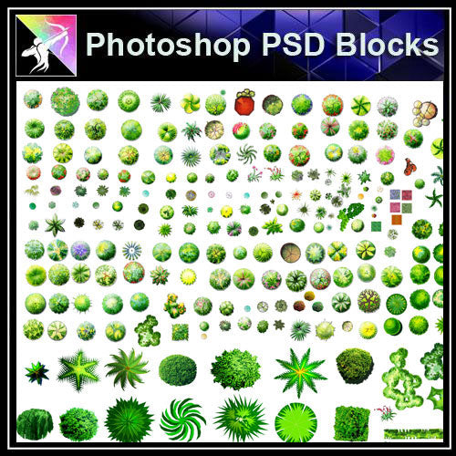 【Photoshop PSD Landscape Blocks】Landscape Tree Blocks 2 - Architecture Autocad Blocks,CAD Details,CAD Drawings,3D Models,PSD,Vector,Sketchup Download
