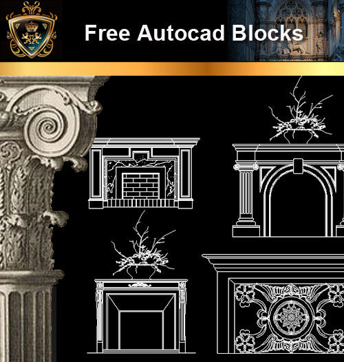 ★Free CAD Blocks-Architecture Decorative Elements V.5 - Architecture Autocad Blocks,CAD Details,CAD Drawings,3D Models,PSD,Vector,Sketchup Download