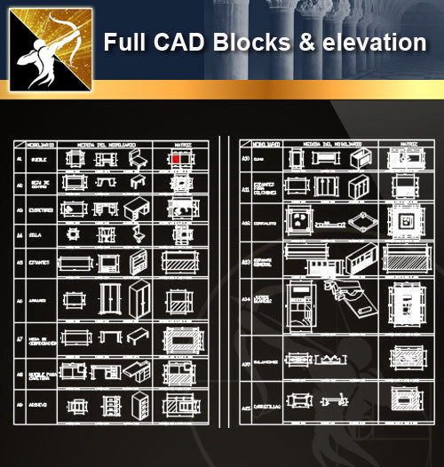 ★Full CAD Blocks and elevation - Architecture Autocad Blocks,CAD Details,CAD Drawings,3D Models,PSD,Vector,Sketchup Download