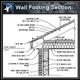 【Architecture Details】Wall Footing Section - Architecture Autocad Blocks,CAD Details,CAD Drawings,3D Models,PSD,Vector,Sketchup Download