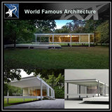【World Famous Architecture CAD Drawings】Farnsworth house 3D Max model- ludwig mies van der rohe