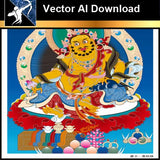 ★Vector Download AI-Thangka Paintings and Mandala: The Sacred Art of Nepal V.9 - Architecture Autocad Blocks,CAD Details,CAD Drawings,3D Models,PSD,Vector,Sketchup Download
