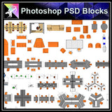 【Photoshop PSD Blocks】Office Blocks - Architecture Autocad Blocks,CAD Details,CAD Drawings,3D Models,PSD,Vector,Sketchup Download