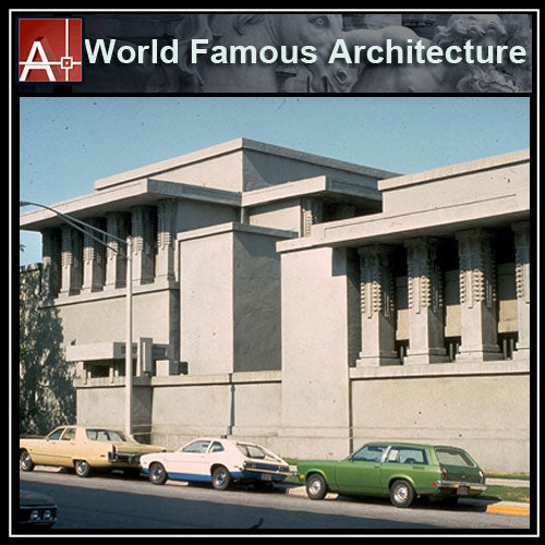 【Famous Architecture Project】Unity Temple-Frank Lloyd Wright-Architectural CAD Drawings - Architecture Autocad Blocks,CAD Details,CAD Drawings,3D Models,PSD,Vector,Sketchup Download