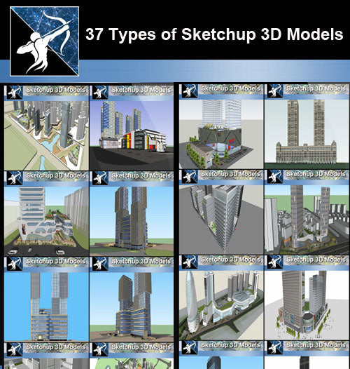 ★Best 37 Types of Commercial,Shopping Mall Sketchup 3D Models  Collection(Recommanded!!)