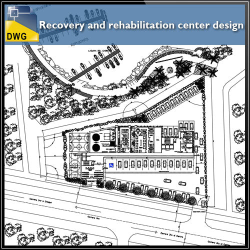 【CAD Details】Recovery and rehabilitation center design drawing