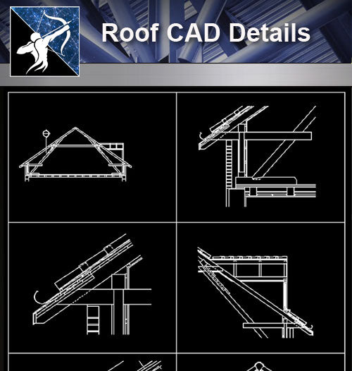 【Roof Details】Free Roof Details 1 - Architecture Autocad Blocks,CAD Details,CAD Drawings,3D Models,PSD,Vector,Sketchup Download